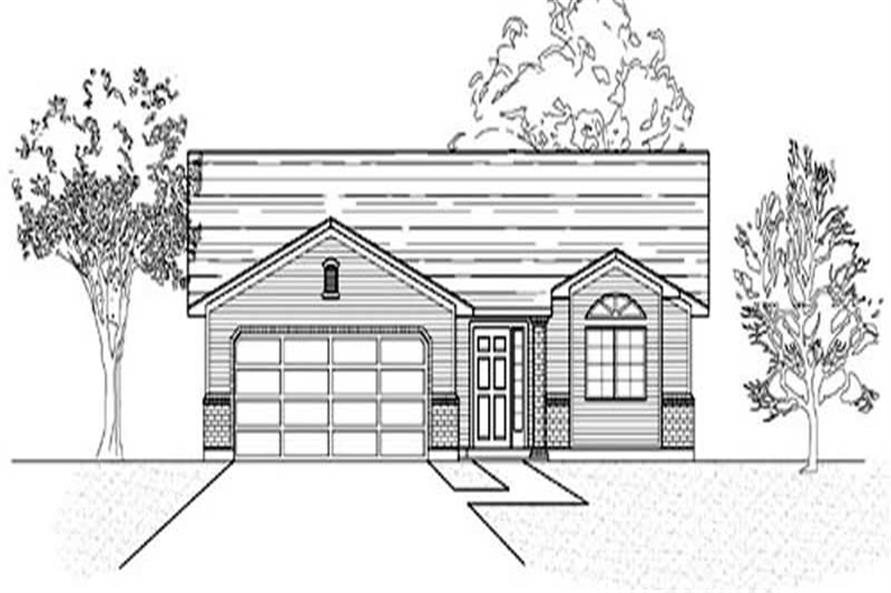 Main image for house plan # 8070