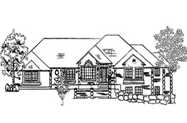 5-Bedroom, 3478 Sq Ft European House Plan - 135-1345 - Front Exterior