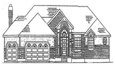 5-Bedroom, 3411 Sq Ft European House Plan - 135-1346 - Front Exterior