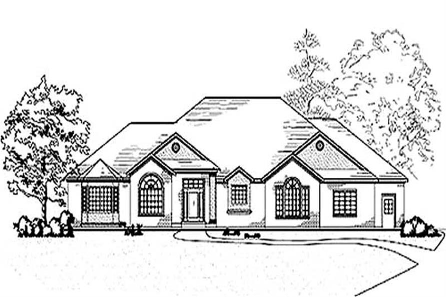 2-Bedroom, 3027 Sq Ft European House Plan - 135-1349 - Front Exterior