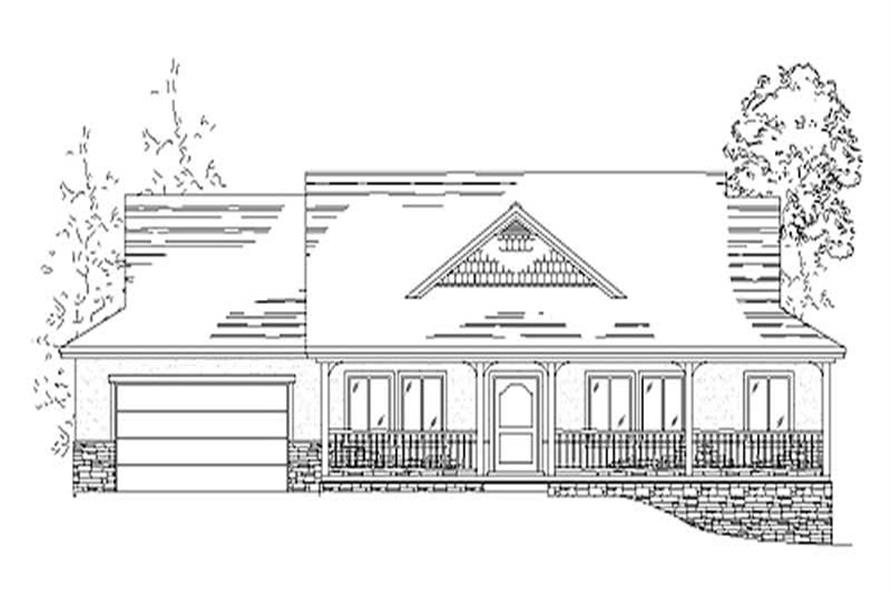 Home Plan Rendering of this 3-Bedroom,2332 Sq Ft Plan -135-1352