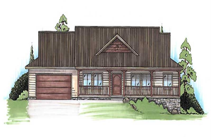 3-Bedroom, 2332 Sq Ft Country Home Plan - 135-1352 - Main Exterior