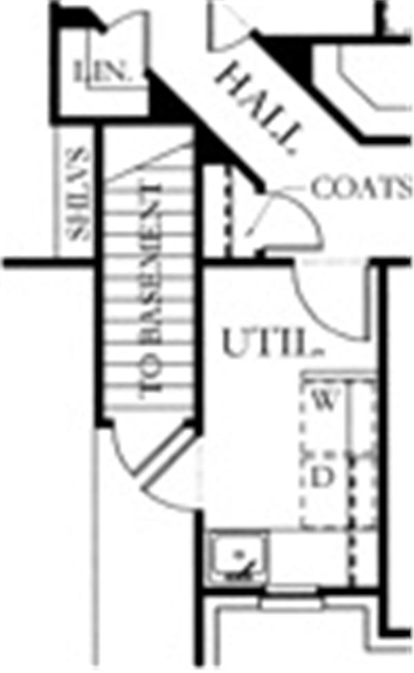 136-1000 house plan basement option
