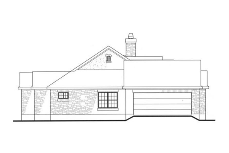 Home Plan Left Elevation of this 4-Bedroom,2184 Sq Ft Plan -136-1000
