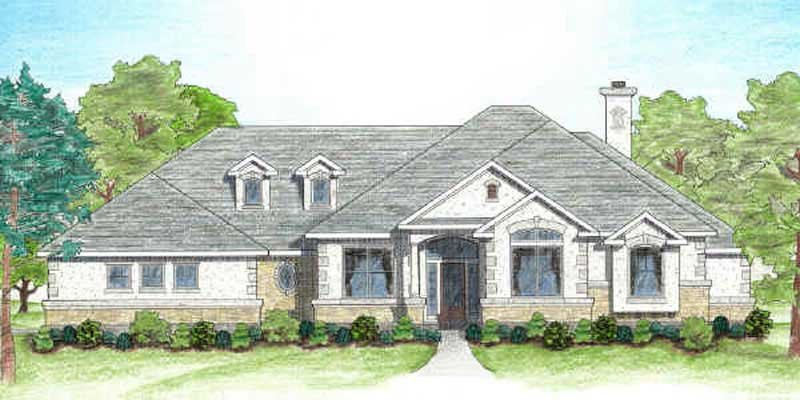 Texas country home plan four bedrooms plan 136 1002 for Texas country house plans