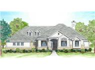 Illustration of this Texas country style house plan. | ThePlanCollection