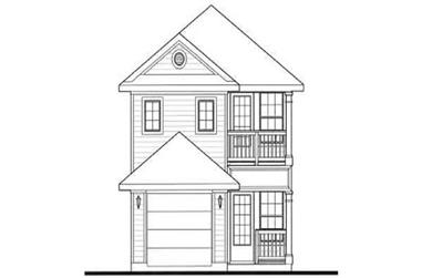 3-Bedroom, 1389 Sq Ft Bungalow Home Plan - 136-1003 - Main Exterior