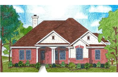 3-Bedroom, 1721 Sq Ft Small House Plans - 136-1007 - Front Exterior