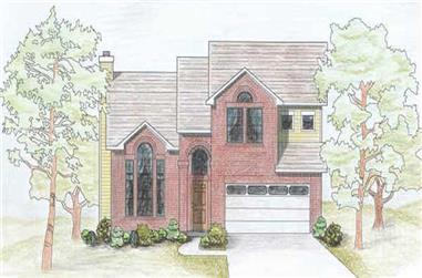 3-Bedroom, 1778 Sq Ft Contemporary House Plan - 136-1008 - Front Exterior
