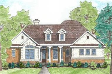 4-Bedroom, 1950 Sq Ft French House Plan - 136-1009 - Front Exterior