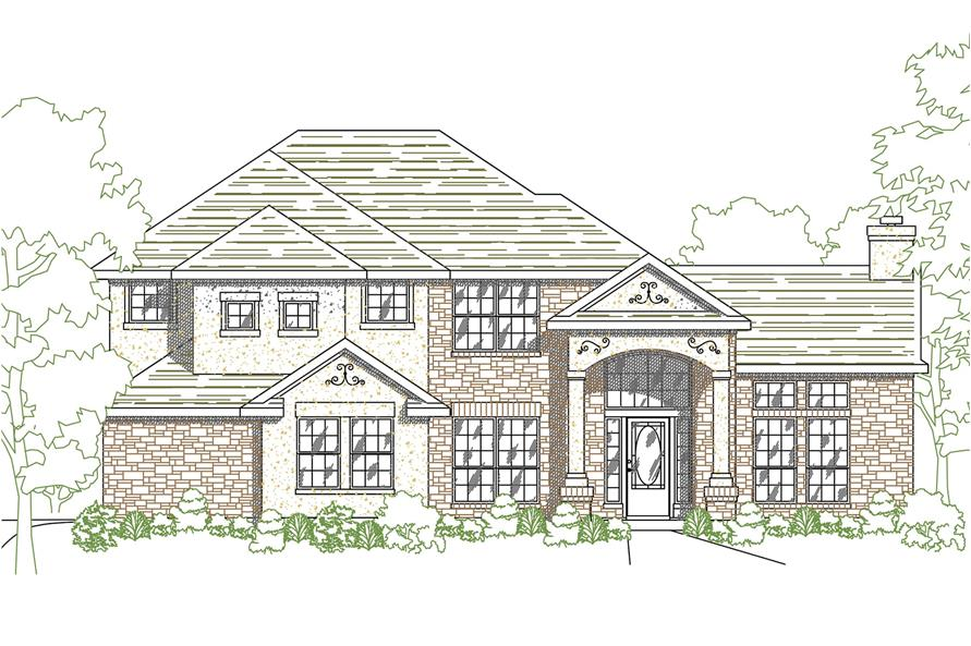 Home Plan Rendering of this 4-Bedroom,2008 Sq Ft Plan -136-1010