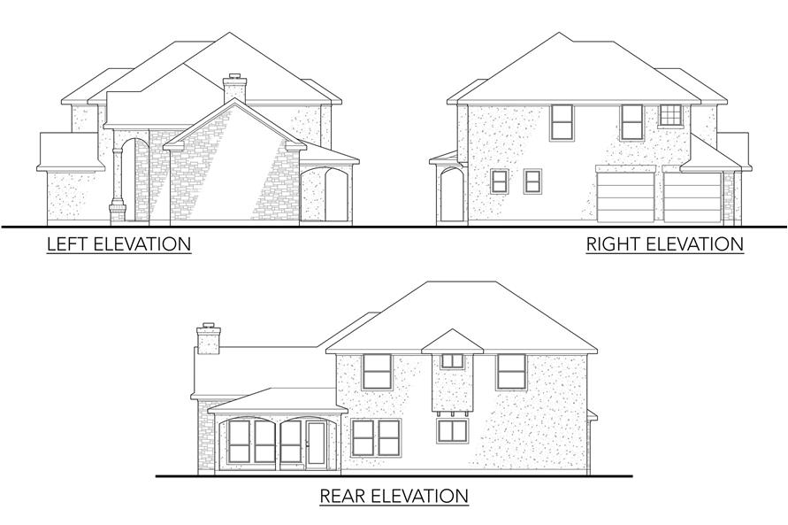 Home Plan Left Elevation of this 4-Bedroom,2008 Sq Ft Plan -136-1010