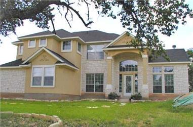 4-Bedroom, 2008 Sq Ft Texas Style House Plan - 136-1010 - Front Exterior
