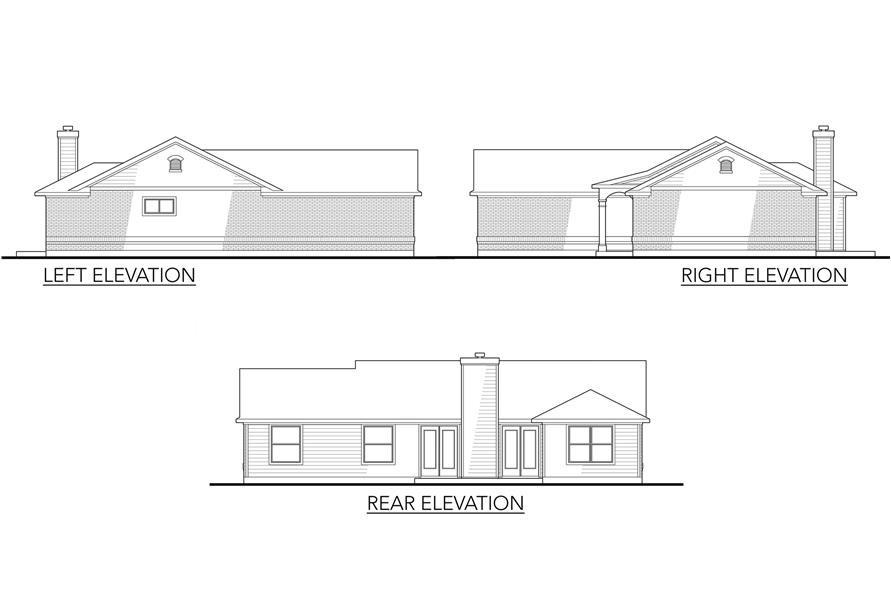 Home Plan Left Elevation of this 4-Bedroom,1296 Sq Ft Plan -136-1011
