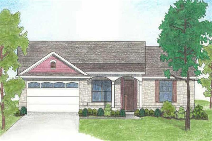 4-Bedroom, 1296 Sq Ft Small House Plans - 136-1011 - Main Exterior