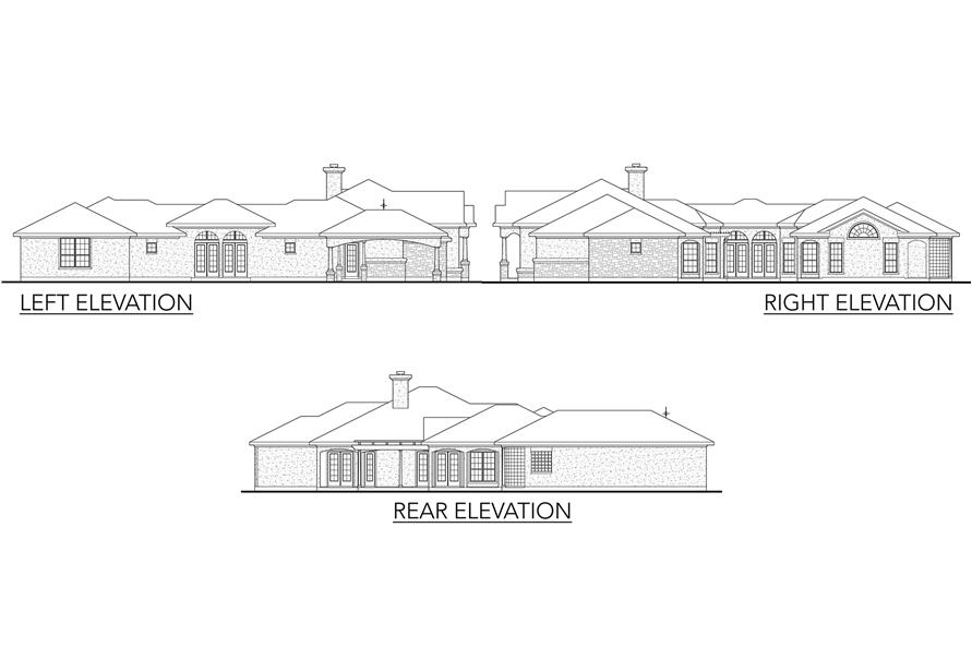 Home Plan Left Elevation of this 4-Bedroom,2855 Sq Ft Plan -136-1012