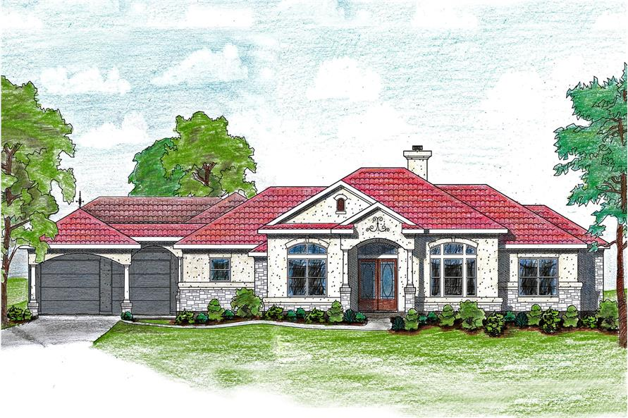 Home Plan Rendering of this 4-Bedroom,2855 Sq Ft Plan -2855