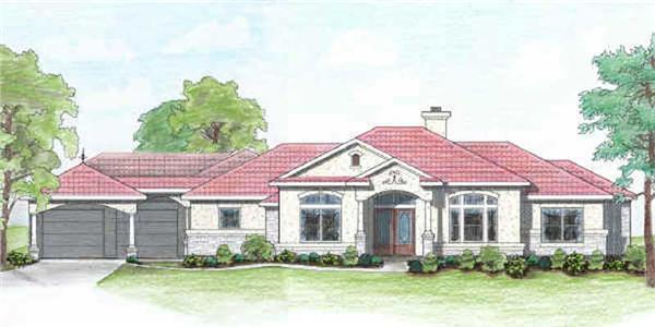 Main image for house plan # 7020