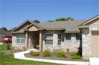3-Bedroom, 1442 Sq Ft Small House Plans - 136-1013 - Main Exterior