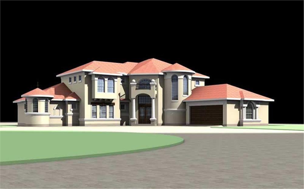 House plans 3d view Home plan 3d