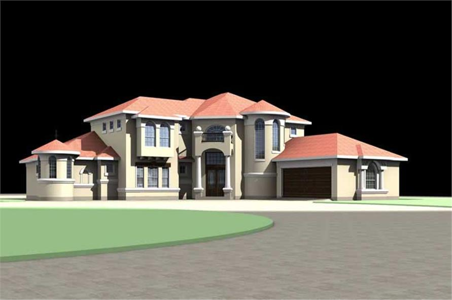 Delightful ... 3D Image House Plan #136 1014