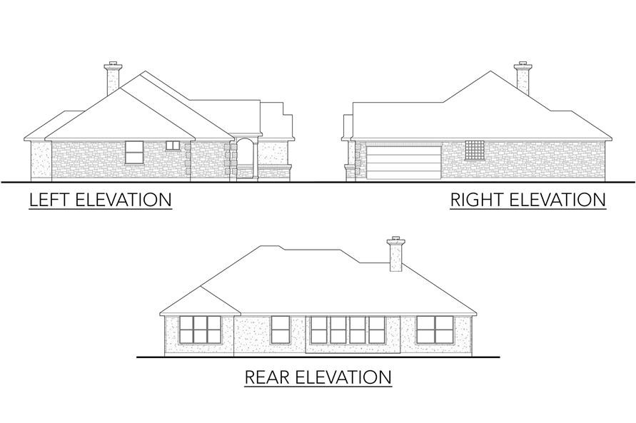 Home Plan Left Elevation of this 4-Bedroom,2115 Sq Ft Plan -136-1015