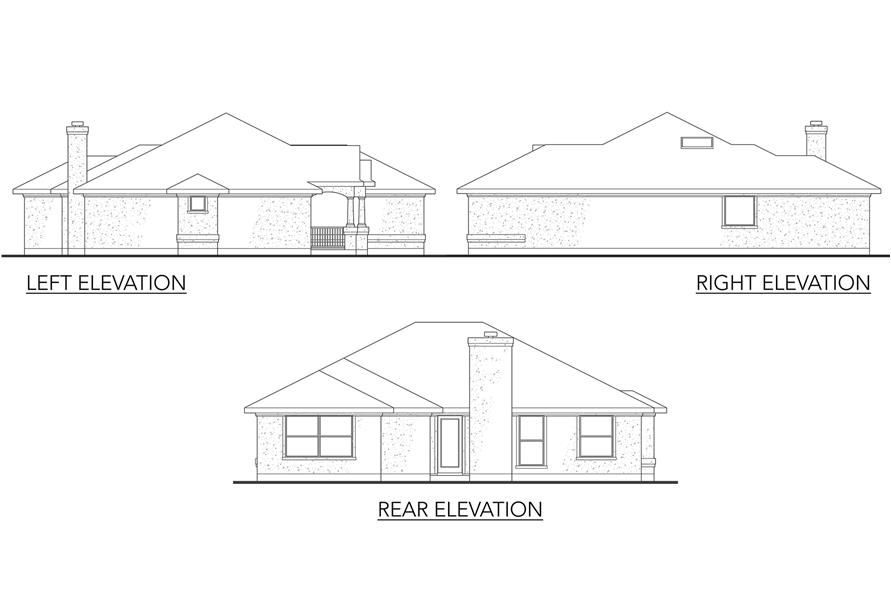 Home Plan Front Elevation of this 3-Bedroom,1355 Sq Ft Plan -136-1017