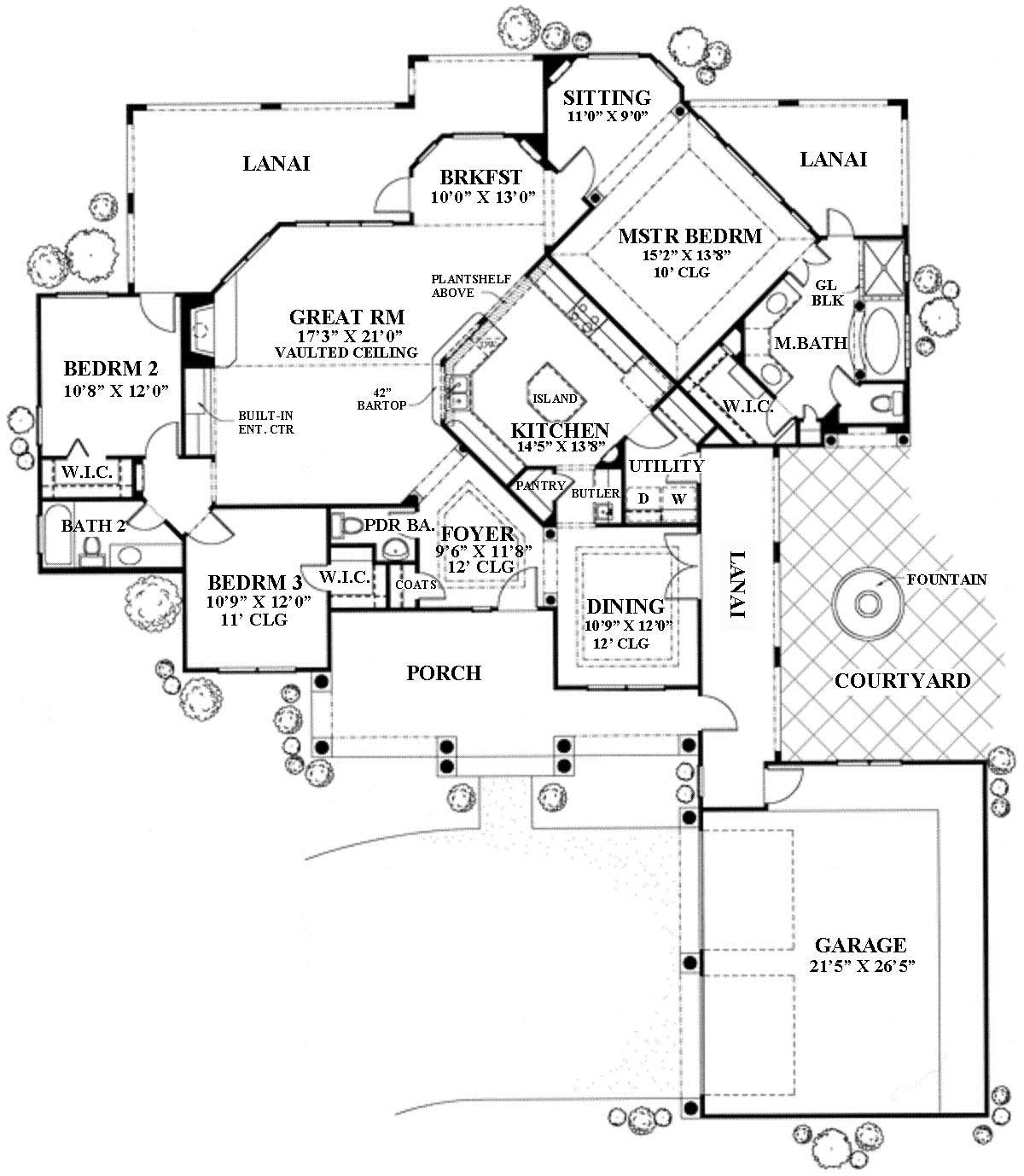 3 bedrm 1988 sq ft southwest house plan 136 1018 for 7000 sq ft house plans