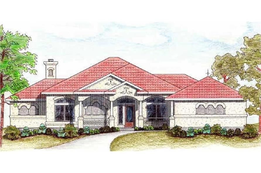 Home Plan Rendering of this 3-Bedroom,1988 Sq Ft Plan -1988