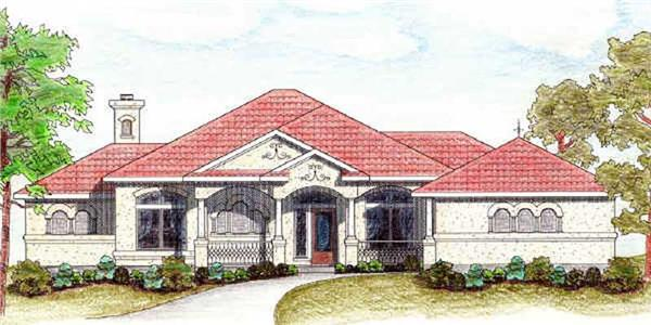 Main image for Mediterranean house plans # 7000