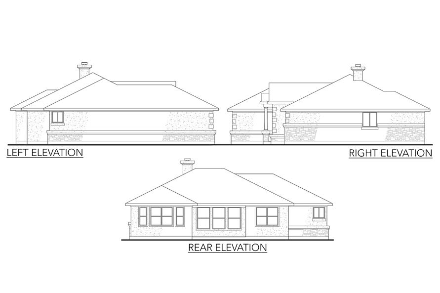 136-1019: Home Plan Front Elevation
