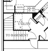 136-1019 house plan basement option floor plan