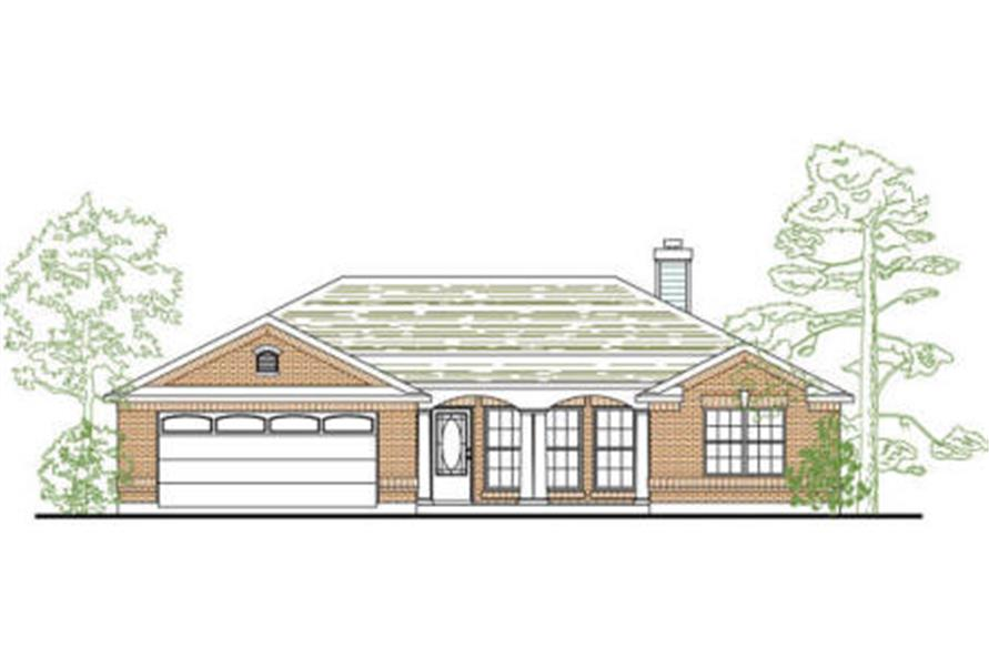 3-Bedroom, 1295 Sq Ft Small House Plans - 136-1021 - Main Exterior