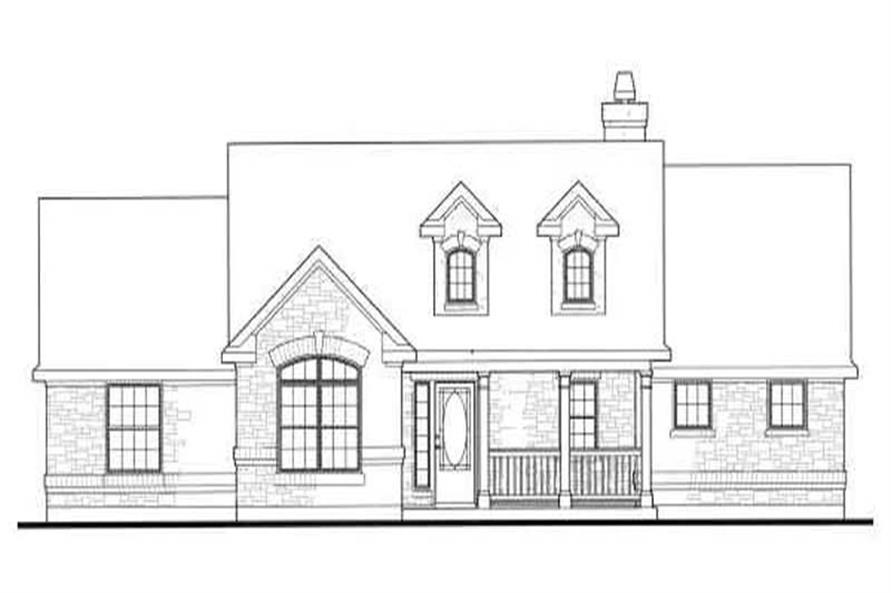 Home Plan Front Elevation of this 3-Bedroom,1939 Sq Ft Plan -136-1026