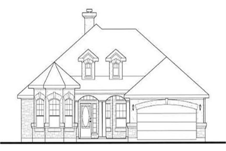136-1027: Home Plan Front Elevation