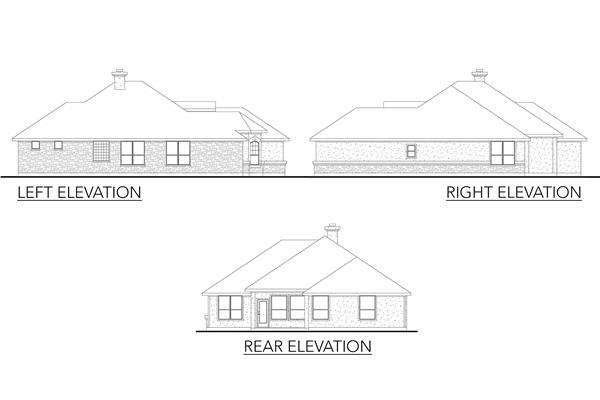 136-1027: Home Plan Rear Elevation