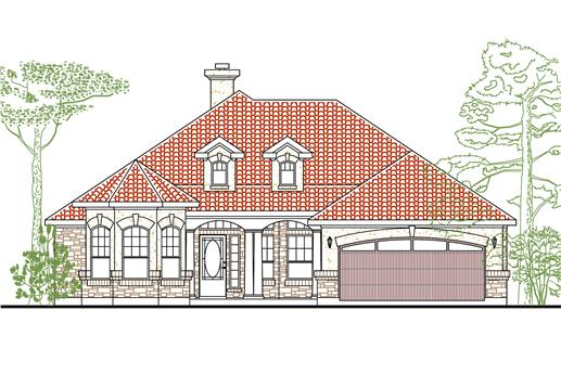 Main image for house plan # 7007