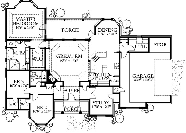 House plan 136 1029 3 bedroom 2014 sq ft texas style for Texas ranch house floor plans