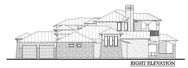 136-1030: Home Plan Right Elevation