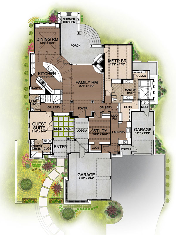 136-1030 house plan first floor