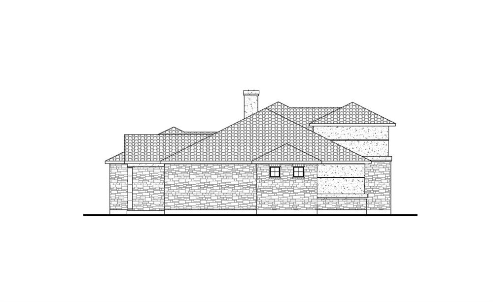 136-1031: Home Plan Left Elevation