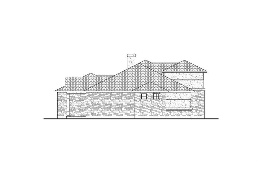 Home Plan Left Elevation of this 3-Bedroom,2504 Sq Ft Plan -136-1031