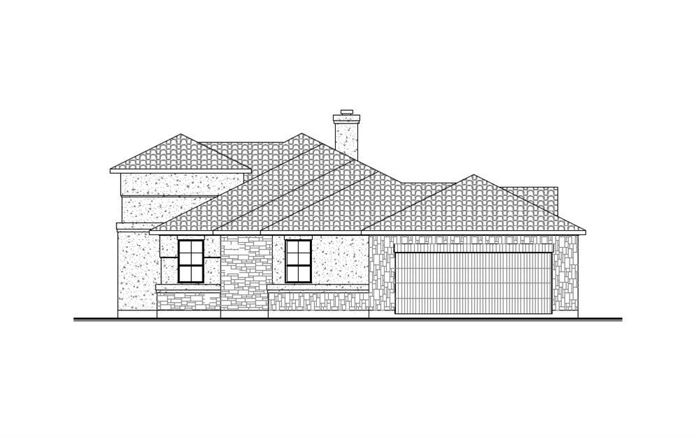 136-1031: Home Plan Right Elevation