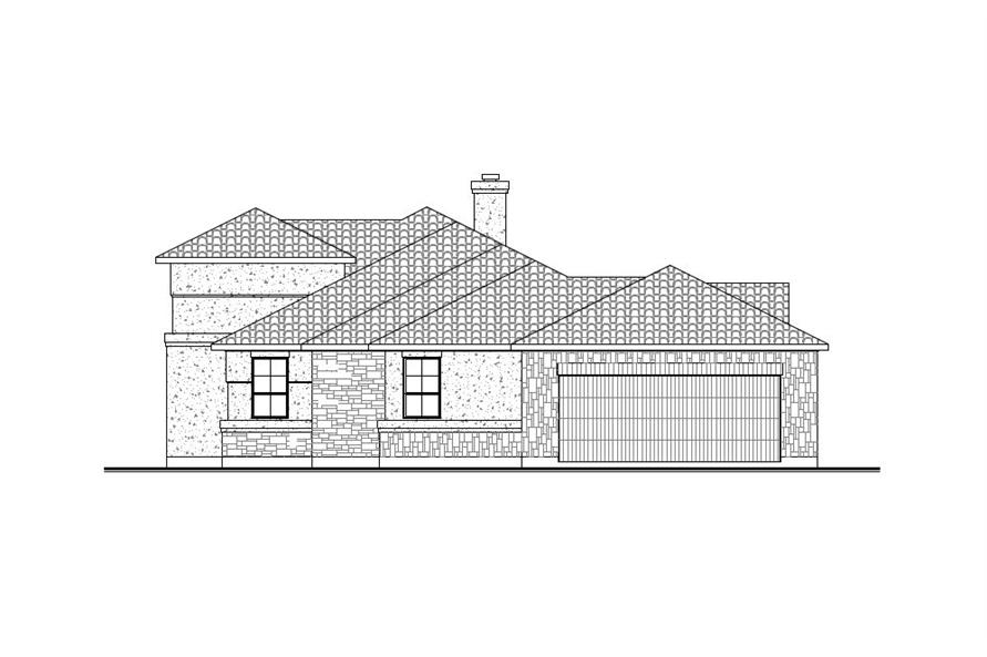 Home Plan Right Elevation of this 3-Bedroom,2504 Sq Ft Plan -136-1031