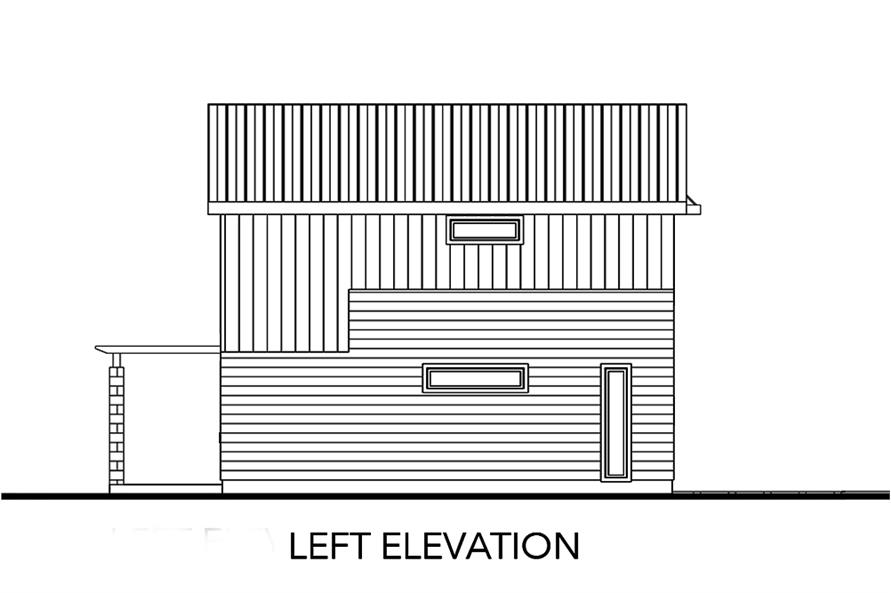 Home Plan Left Elevation of this 2-Bedroom,1227 Sq Ft Plan -136-1032