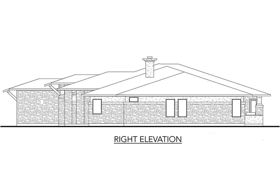 Home Plan Right Elevation of this 5-Bedroom,3322 Sq Ft Plan -136-1033