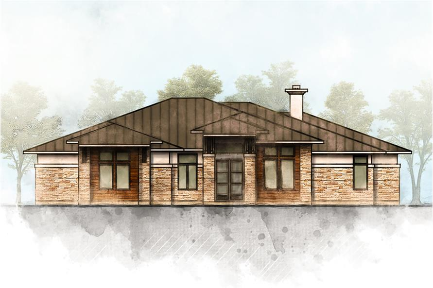 5-Bedroom, 3322 Sq Ft Contemporary House Plan - 136-1033 - Front Exterior