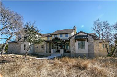 4-Bedroom, 3382 Sq Ft Texas Style Home Plan - 136-1034 - Main Exterior