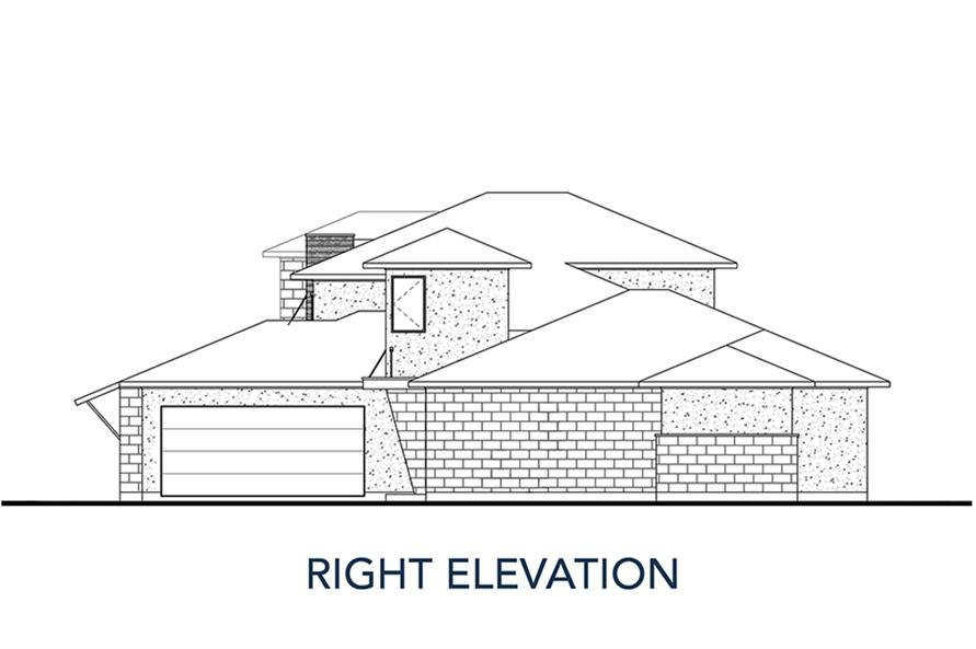 Home Plan Right Elevation of this 4-Bedroom,3727 Sq Ft Plan -136-1035