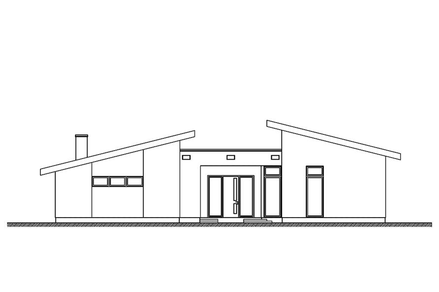 136-1036: Home Plan Front Elevation